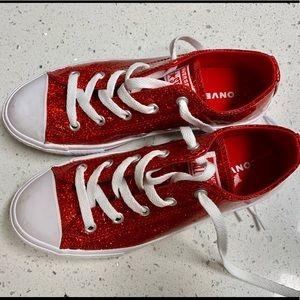Red Sparkle Converse